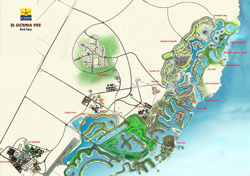 El Gouna El Gouna Map - Map of egypt el gouna